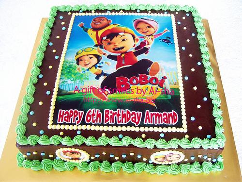 Edible Image Cake Kl : Kek Edible Image Boboiboy Birthday cake - Aisha Puchong Jaya