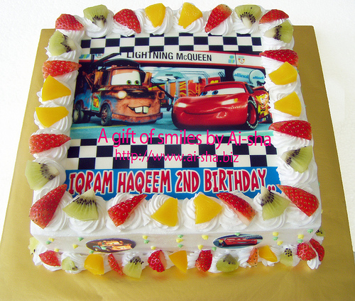 Edible Cake Images Cars : Disney Cars Birthday Cake - Aisha Puchong Jaya