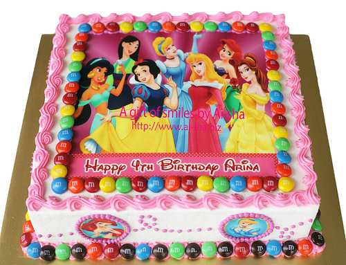 Birthday Cake Edible Image Disney Princess Kek Harijadi Image