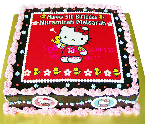 Birthday Cake Edible Image Hello Kitty