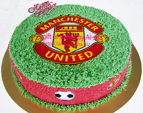 Birthday Cakes Edible Image Manchester United