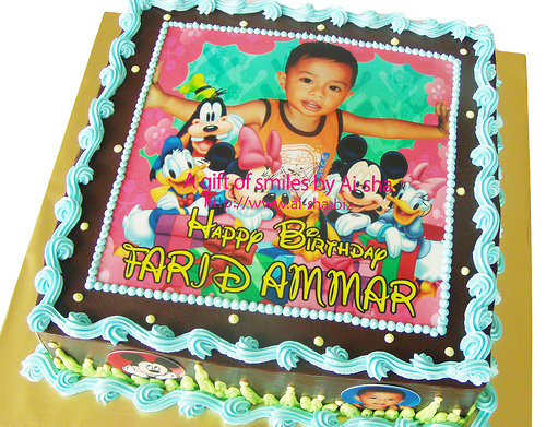 Birthday Cake Edible Image Ai-sha Puchong Jaya