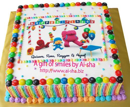Birthday Cake Edible Image Pocoyo