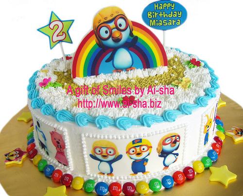 Birthday Cake Edible Image Pororo Ai-sha Puchong Jaya
