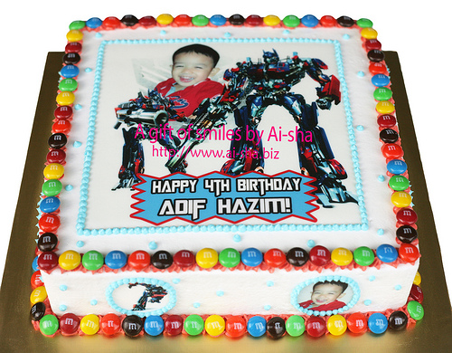 Birthday Cake Edible Image Transformers