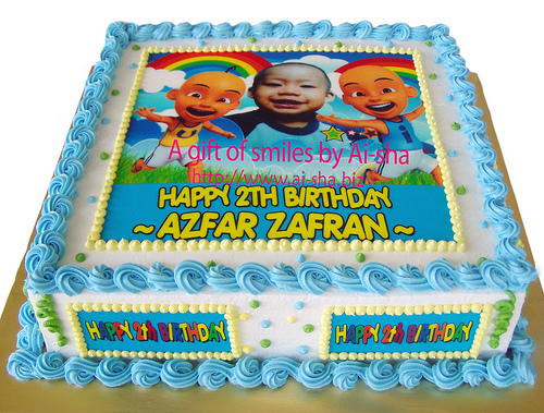 Birthday Cake Edible Image Upin & Ipin