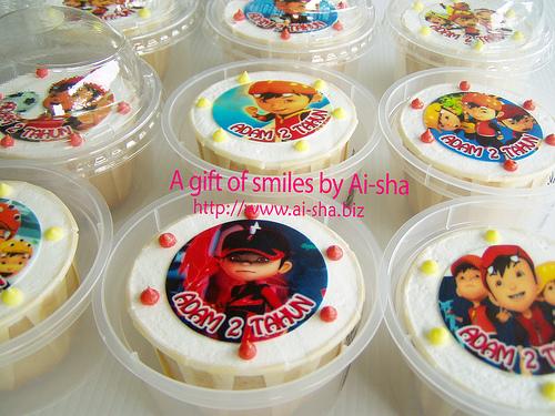 Birthday Cupcake Edible Image Boboiboy