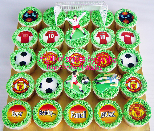 Birthday Cupcakes Edible Image MU