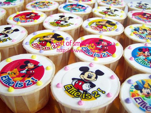 Birthday Cupcake Edible Image Mickey Mouse Ai-sha Puchong Jaya