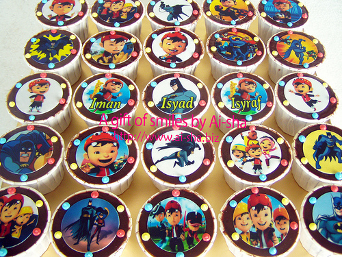 Birthday Cupcakes Edible Image Boboiboy & Batman