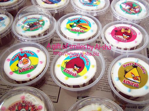 Birthday Cupcakes Edible Image Angry birds