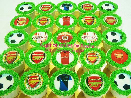 Birthday Cupcakes Edible Image Arsenal Ai-sha Puchong Jaya