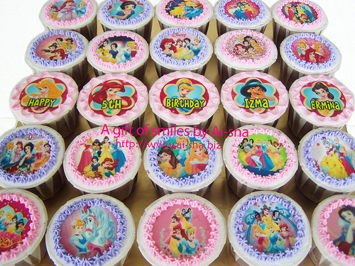 Birthday Cupcake Edible Image Disney Princess