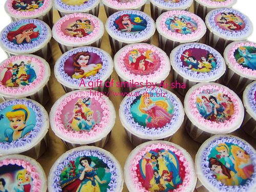 Birthday Cupcake Edible Image Disney Princess