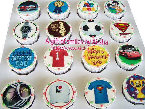 Birthday Cupcakes Edible Image Father's Day