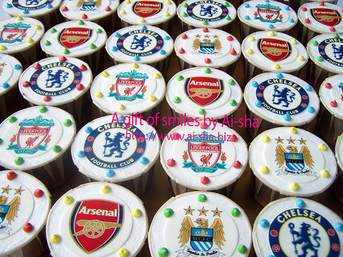 Birthday Cupcakes Edible Image Football Logo