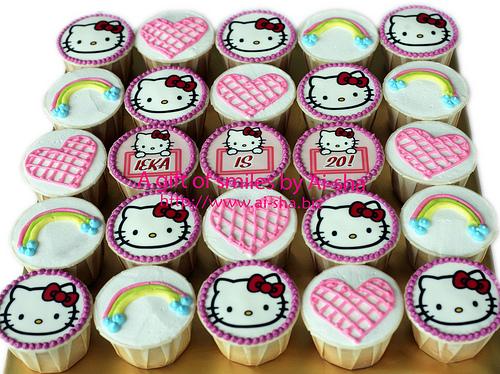 Birthday Cupcakes Edible Image Hello Kitty