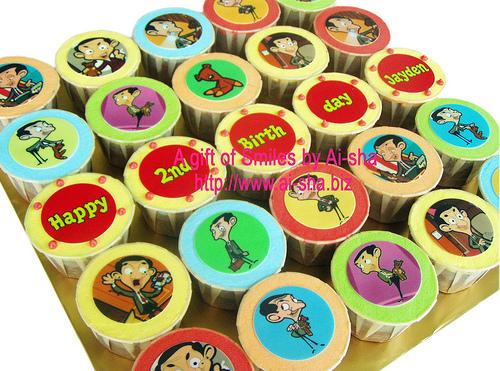 Birthday Cupcake Edible Image Mr.Bean