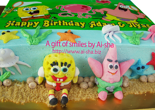 Birthday Cake Edible Image Spongebob