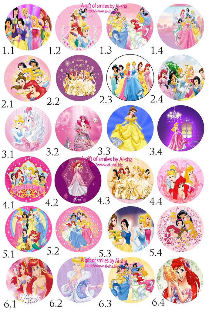Disney Princess Edible Images For Cakes images