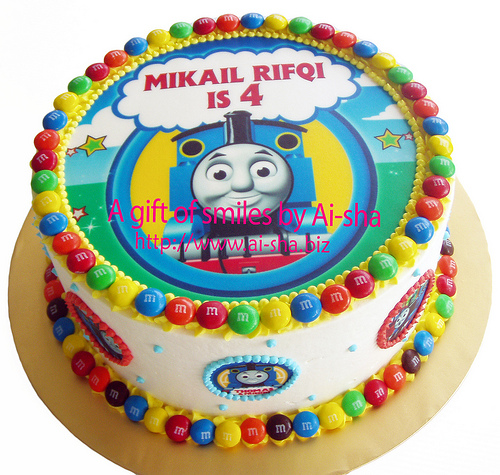 Rainbow Cake Edible Image Thomas and Friends Ai-sha Puchong Jaya
