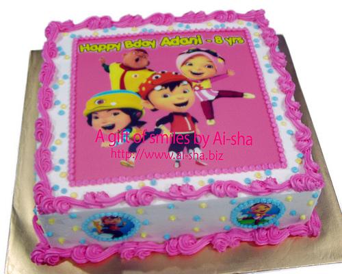 Birthday Cake Edible Image Boboiboy