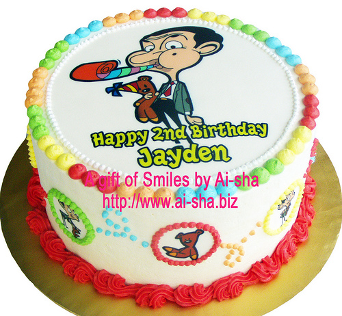 Rainbow Cake Edible Image Mr.Bean