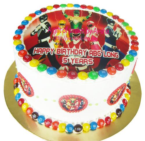 Rainbow Cake Edible Image Power Rangers