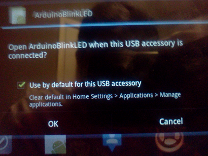 android message of new usb device connection