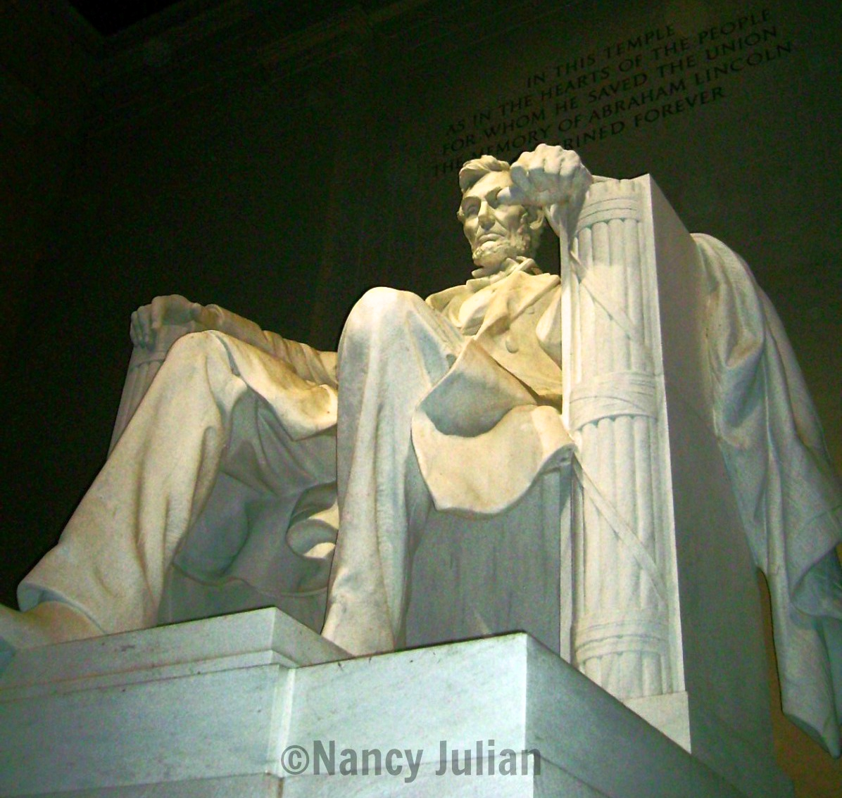 The Lincoln Monument in Washington