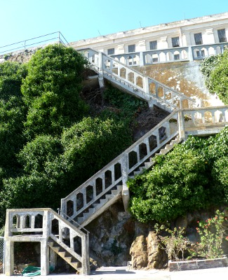 Alcatraz Island in San Francisco Bay is popular for cruise tourists