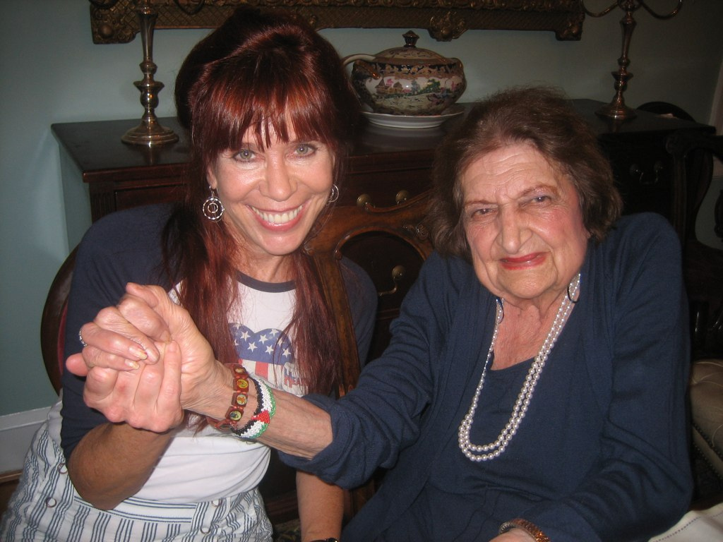 Eileen Fleming and Journalist Helen Thomas, May 2011