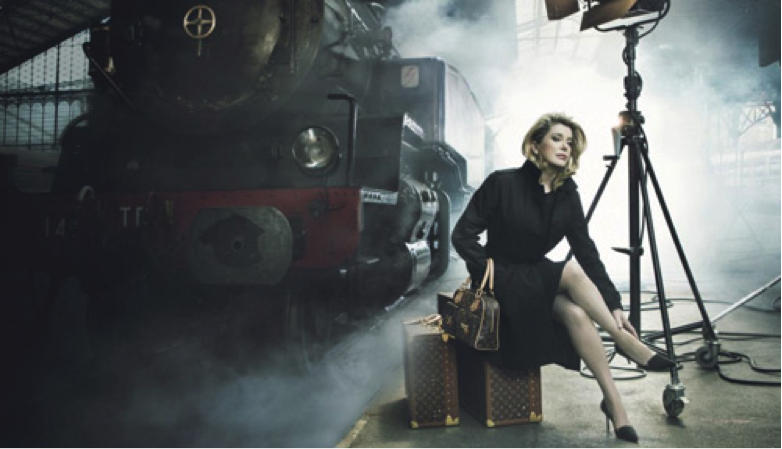 Catherine Deneuve Modeling for Louis Vuitton
