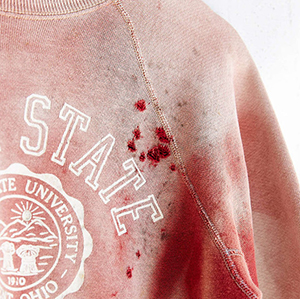 Urban Outfitters bloody Kent State sweatshirt