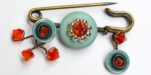 read about Favorite Buttons Brooch