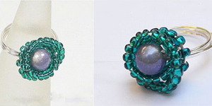 read about DIY: Wire Wrapped Beaded Ring