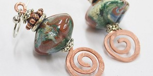 read about DIY: Beaten Spiral Earrings Tutorial