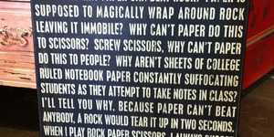 read about A Theory of Rock, Paper, Scissors