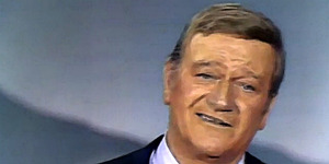 "read about John Wayne and ""God Bless America"""