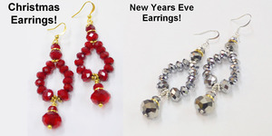 read about Christmas Red Bling Earrings Tutorial