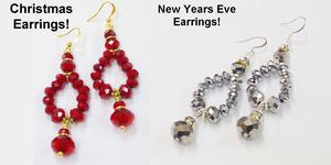 Christmas Red Bling Earrings Tutorial