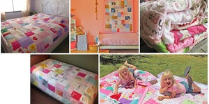 read about 4 Tips: How to Easily Make a Memory Quilt From Your Baby's Old Clothes