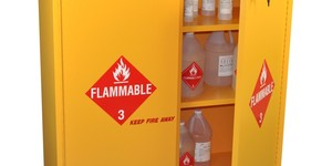 read about Steps to take when flammables are stored