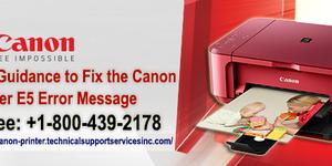read about Technical Guidance to Fix the Canon Printer E5 Error Message