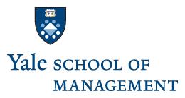Yale School of Management: Assistant Professor of Marketing