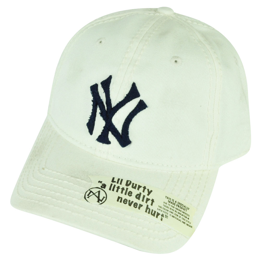 3846cd41f18 American Needle MLB American Needle New York Yankees Lil Dirty Stains Snapback  Hat Cap White