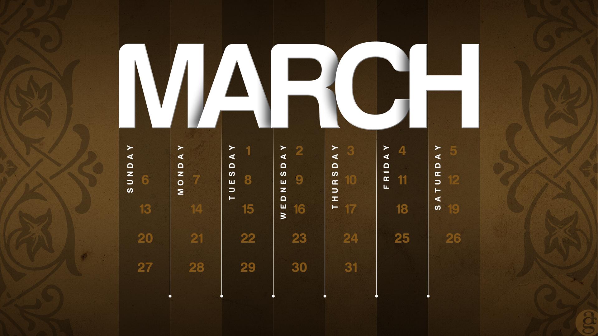 March Calendar Wallpaper Hd : March calendar wallpaper
