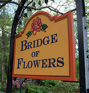 Bridge of Flowers Sign