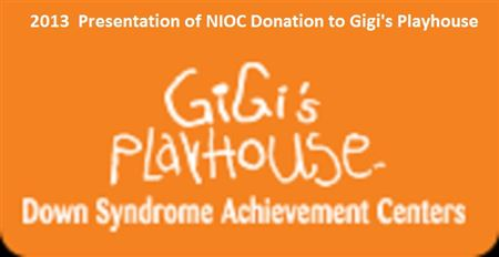 Presentation of 2013 donation to Gigi's Playhouse in McHenry