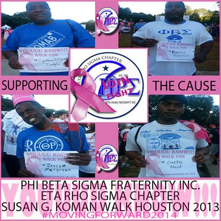 Eta Rho Sigma members supporting the Cause